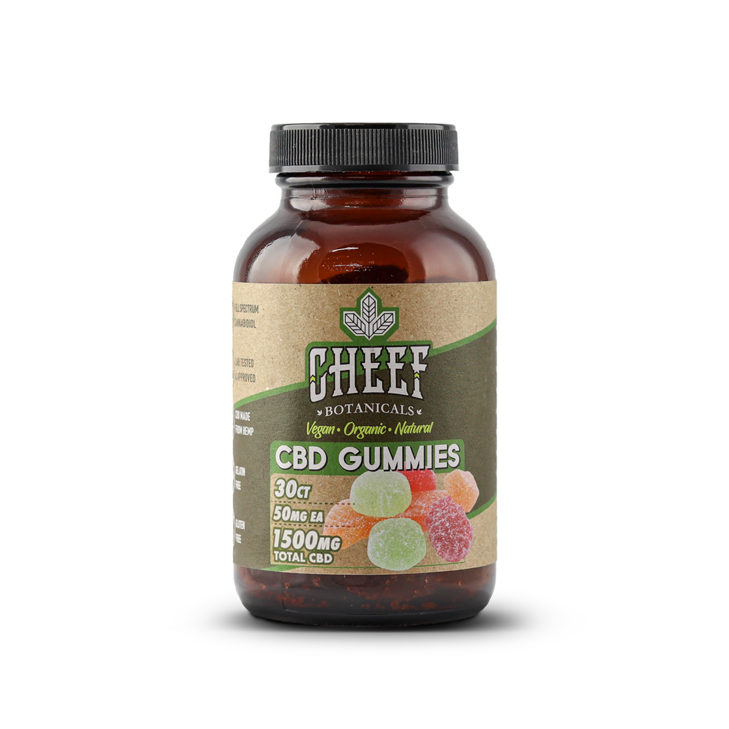 Cheef Botanicals Gummies | Vegan 50mg 30ct - Full Spectrum CBD