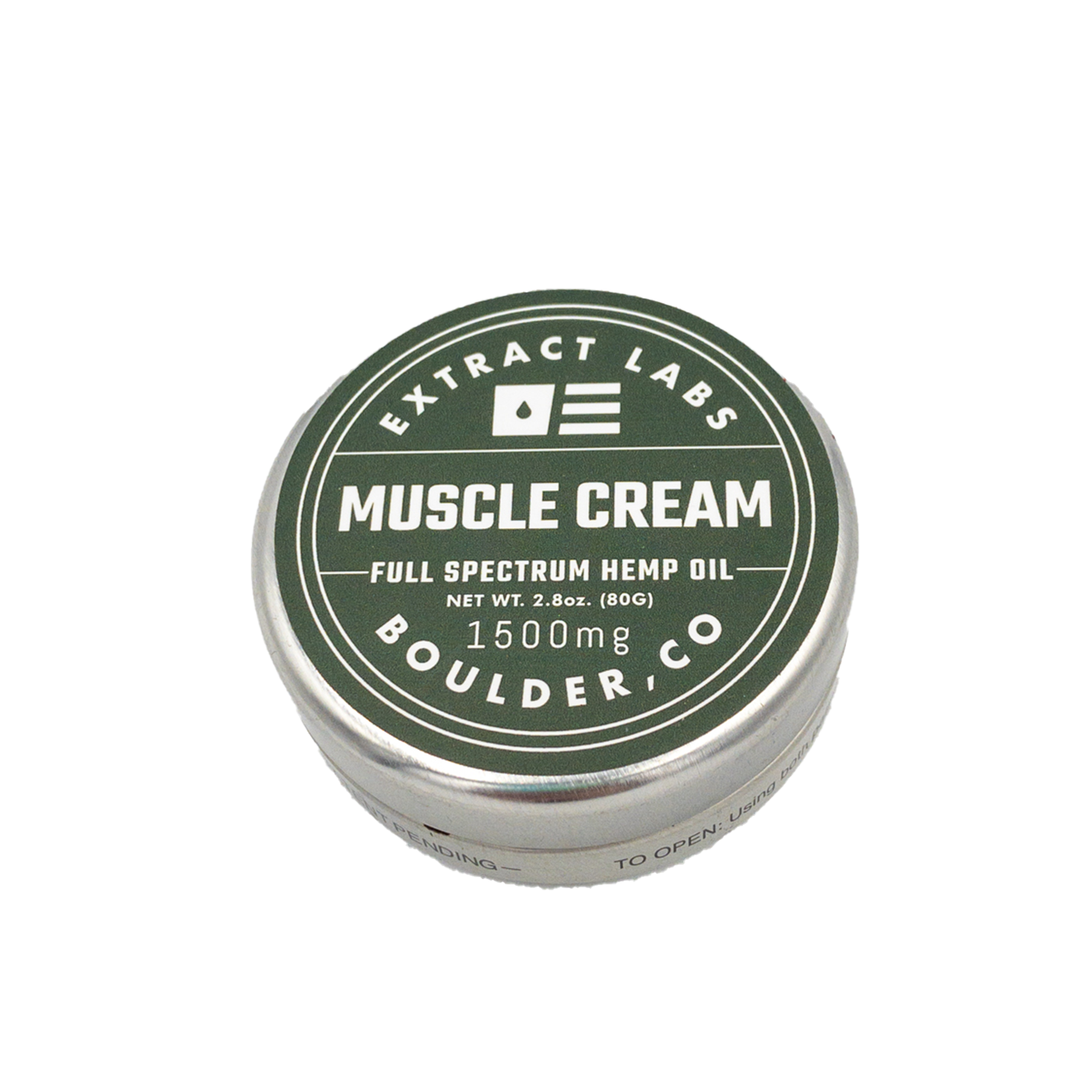 Extract Labs Topical | Muscle Cream - 1500mg Full Spectrum