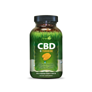 Irwin Naturals Soft Gels | Turmeric 60ct - Full Spectrum CBD