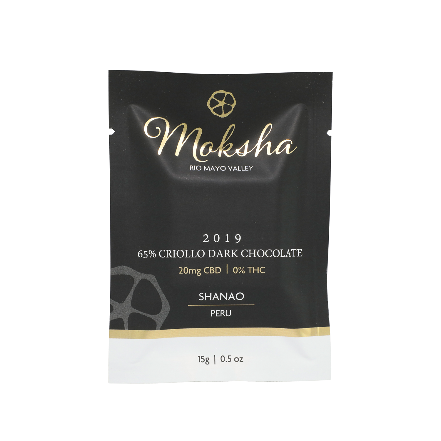 Moksha Chocolate | 65% Criollo Dar 20mg - Isolate CBD