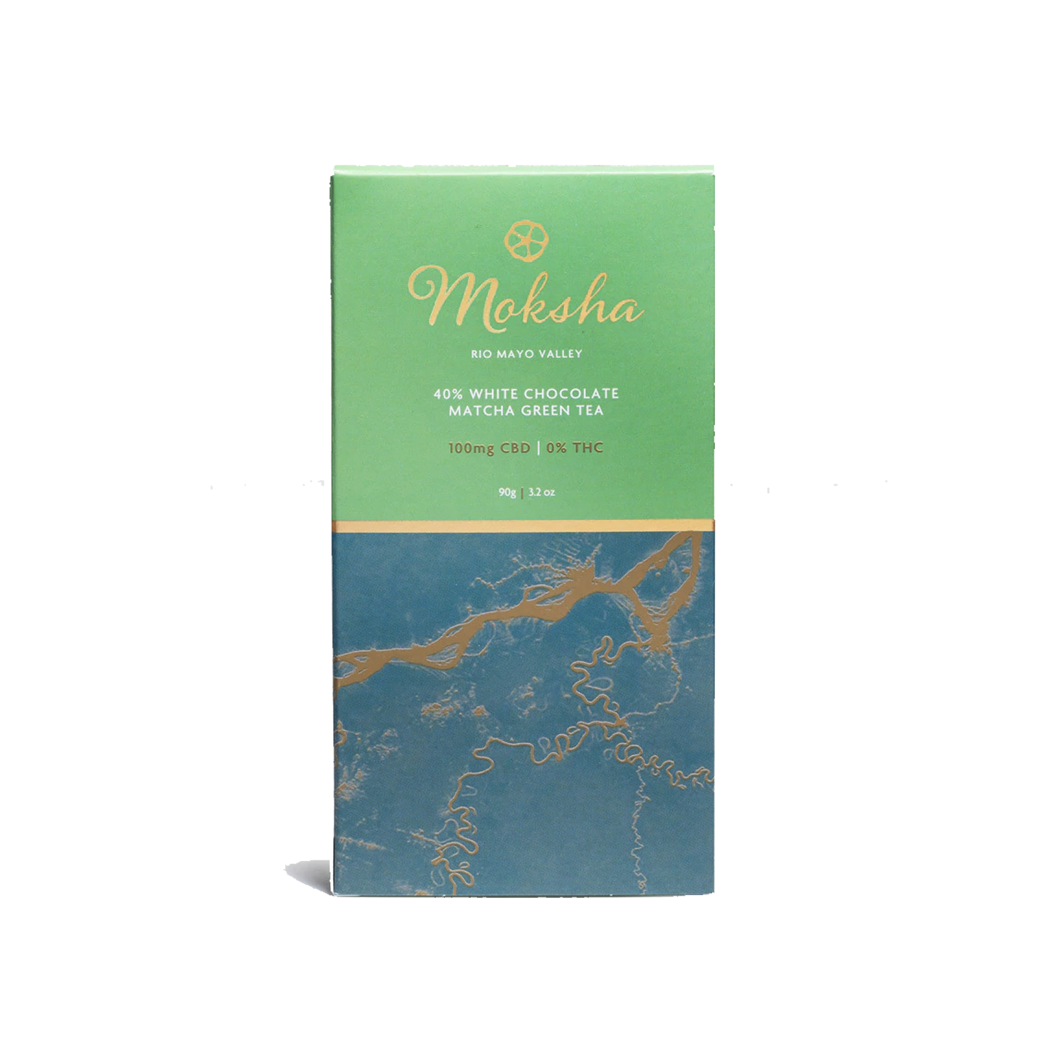 Moksha Chocolate | 40% White Matcha 100mg - Isolate CBD