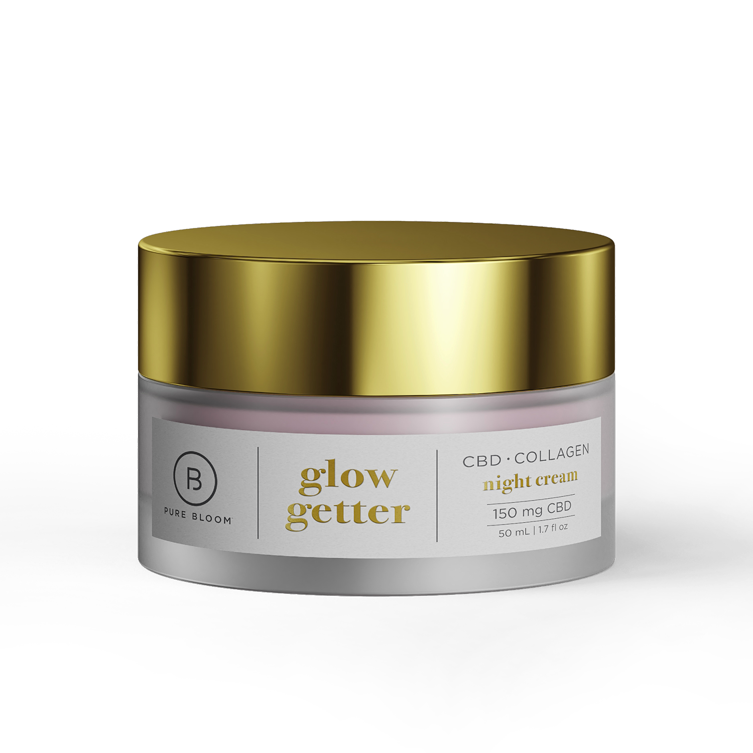Pure Bloom Night Cream | Collagen Face Repair 150mg- Nano CBD