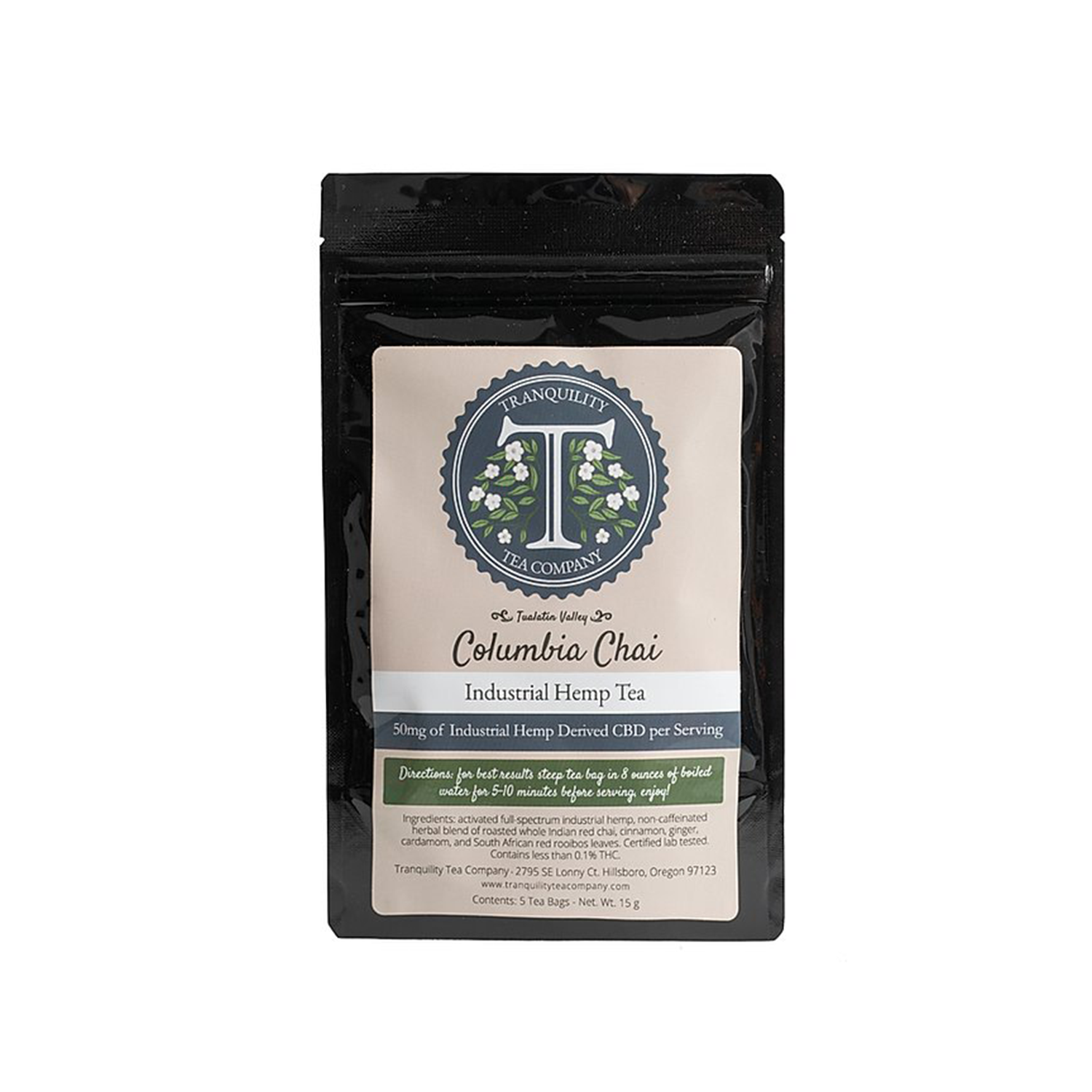 Tranquility Tea | Columbia Chia - 50mg Full Spectrum CBD