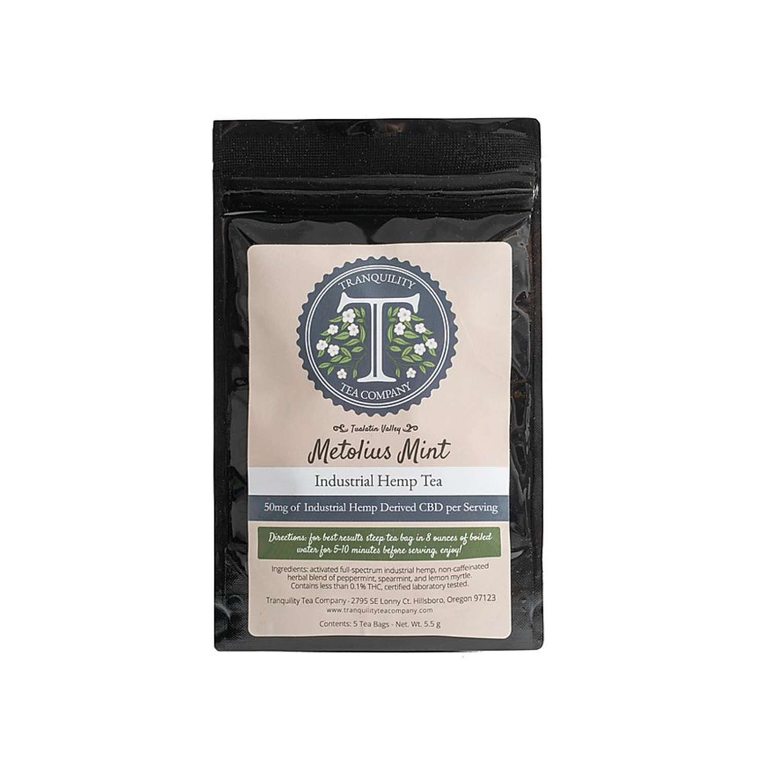 Tranquility Tea | Metolius Mint- 50mg Full Spectrum CBD