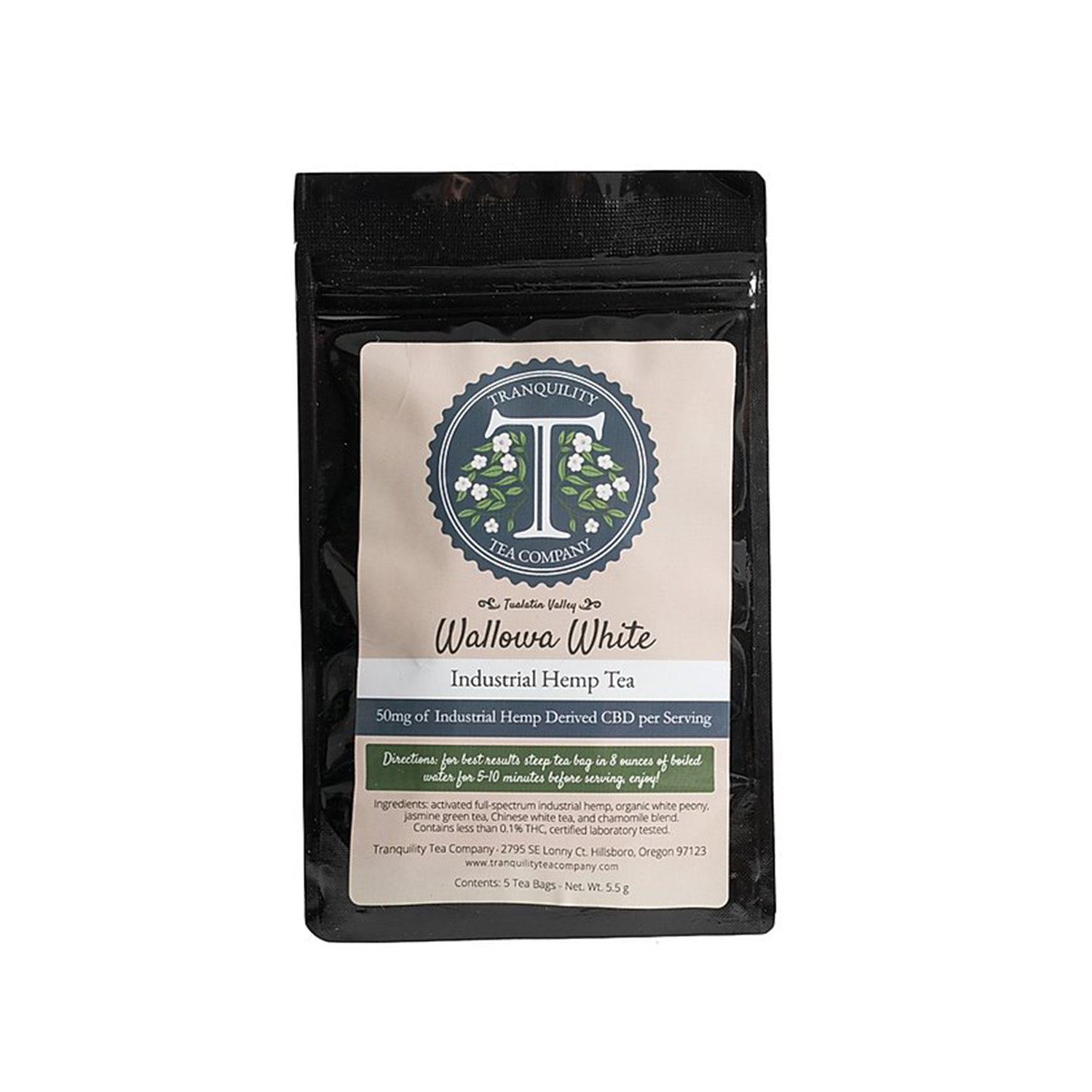 Tranquility Tea Bags | Wallow White- 50mg Full Spectrum CBD
