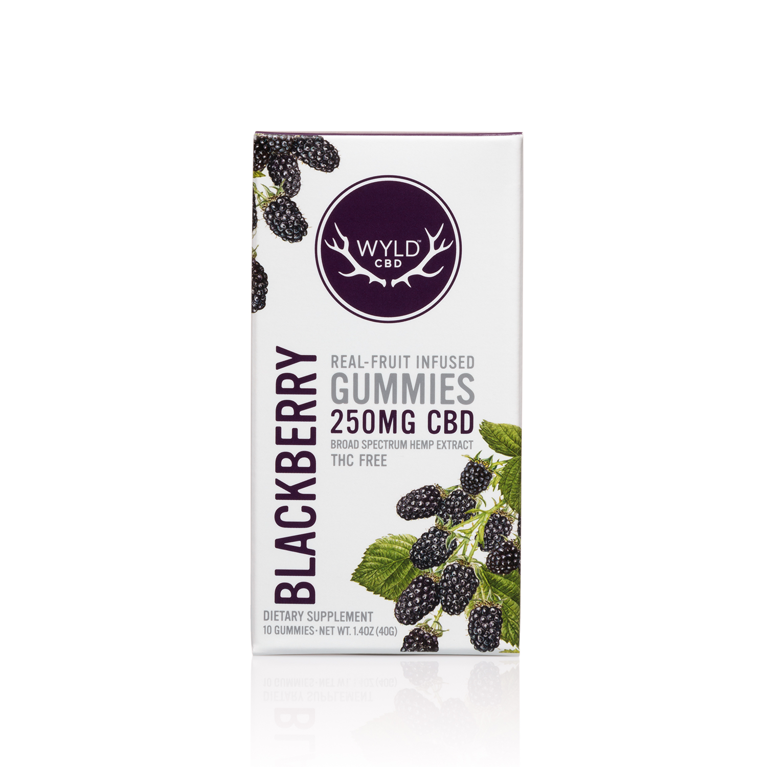 Wyld Vegan Gummies | Vegan BlackBerry - Broad Spectrum CBD
