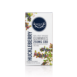 Wyld Vegan Gummies | Vegan Huckleberry - Broad Spectrum CBD