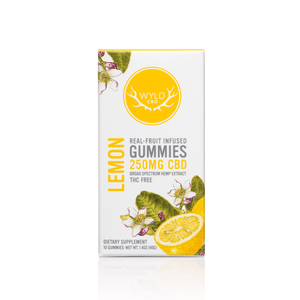 Wyld Vegan Gummies | Vegan Lemon - Broad Spectrum CBD