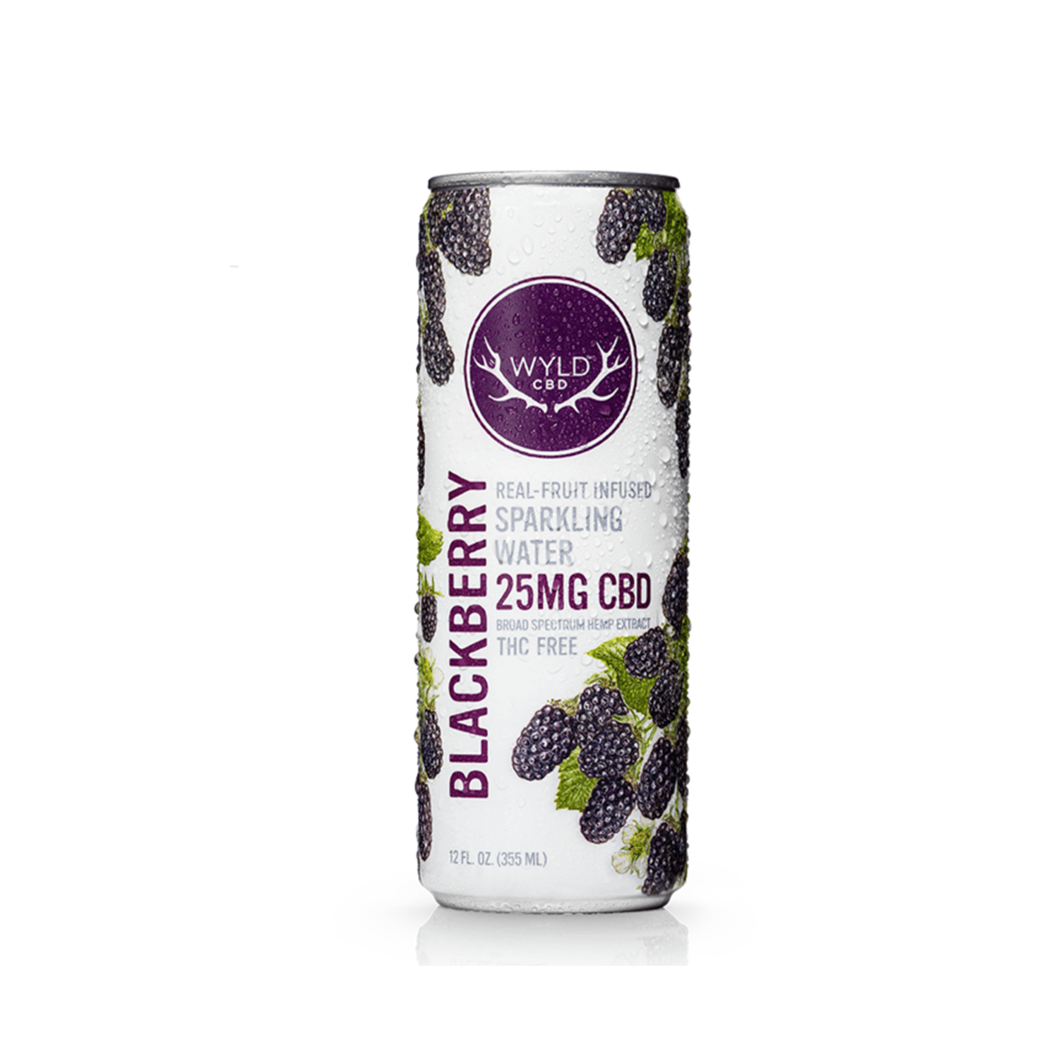 Wyld Sparkling Water | Blackberry 25mg CBD