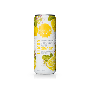 Wyld Sparkling Water | Lemon 25mg CBD