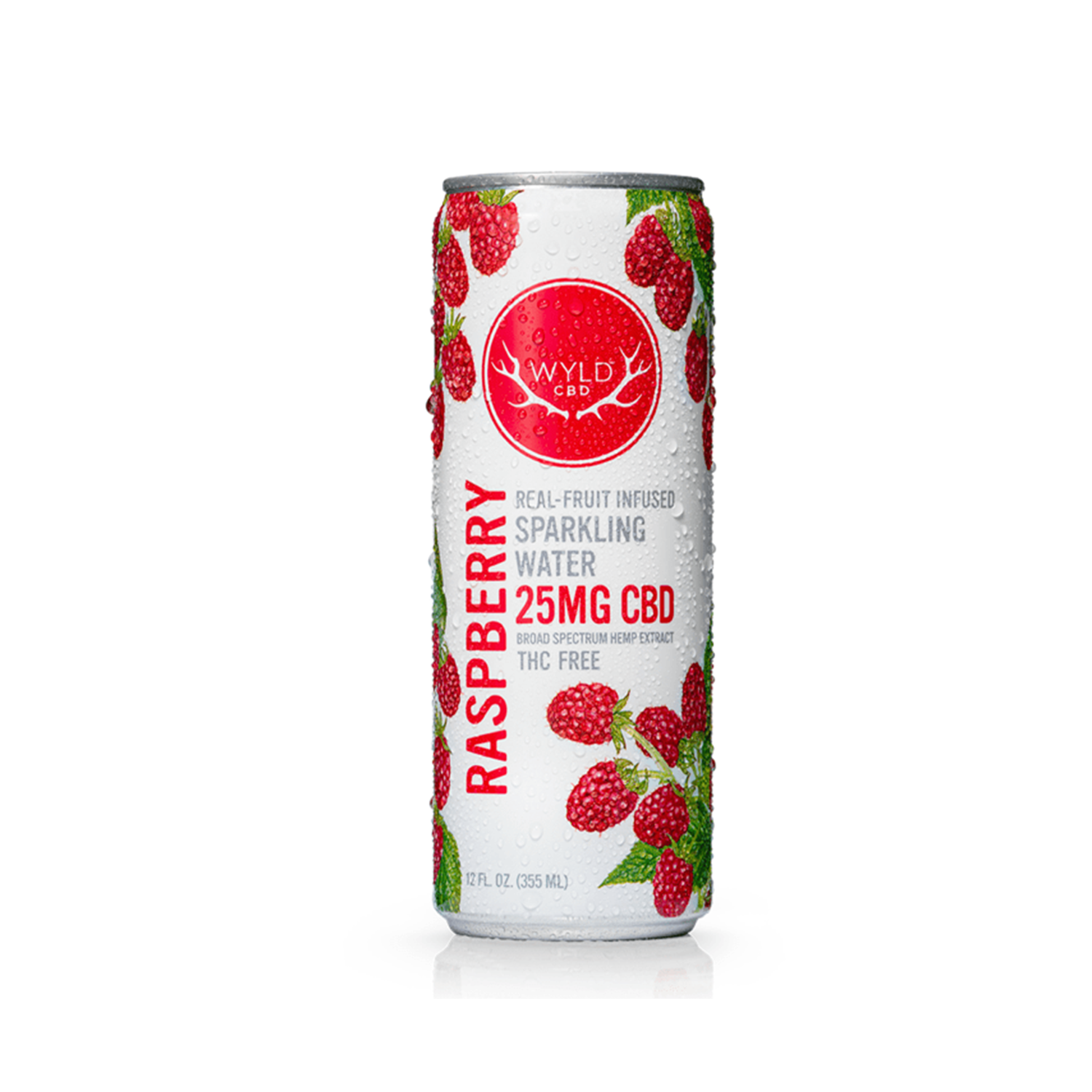 Wyld Sparkling Water | Raspberry 25mg