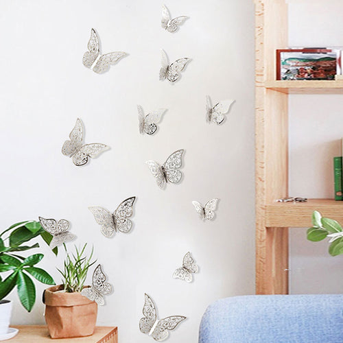 12 Piece Set 3D Butterfly Wall Stickers