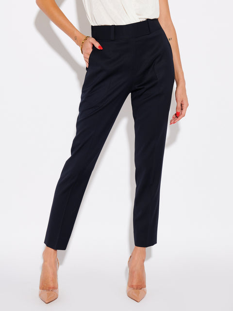 MID RISE TAILORED PANT - FRENCH NAVY