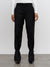 Tailored Tie Up Pants - Black Wool
