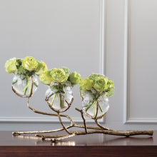 Load image into Gallery viewer, TWIG 3 VASE HOLDER-BRASS