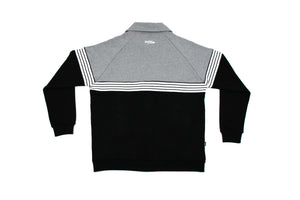 RETRO TRICOT TRACK JACKET BLACK / H. GREY JA-4000