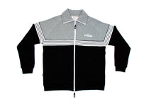 Load image into Gallery viewer, RETRO TRICOT TRACK JACKET BLACK / H. GREY JA-4000
