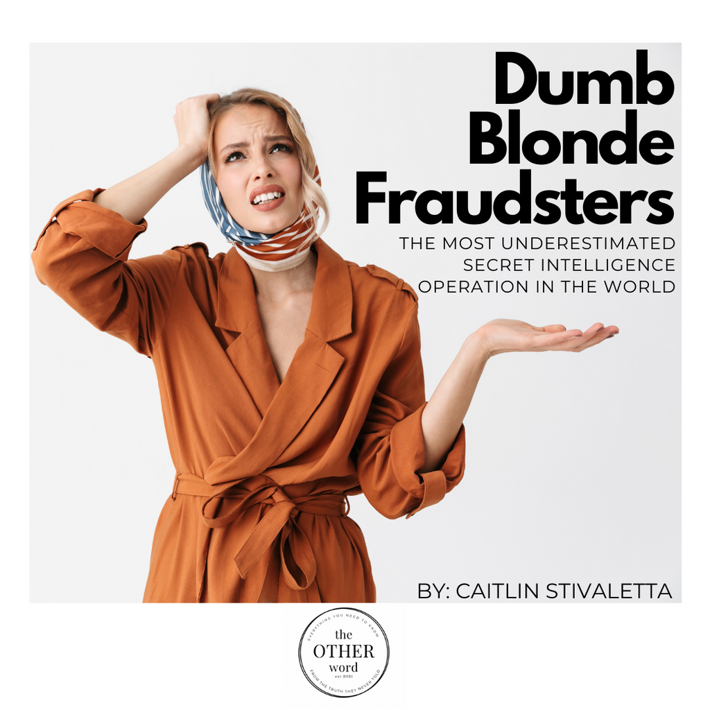Dumb Blonde Fraudsters
