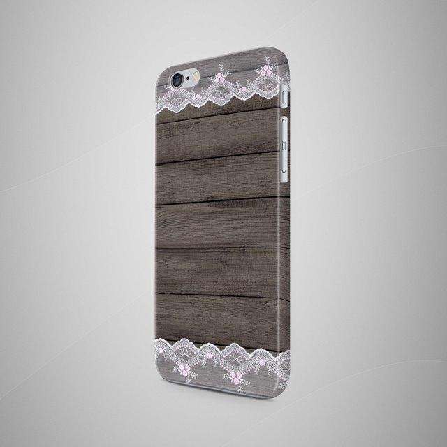 White Lace Wooden iPhone 7 Case iPhone 8 Case