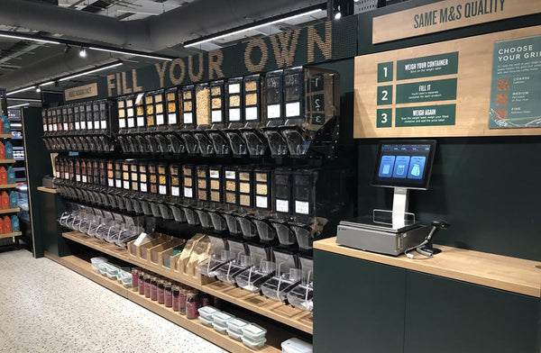 HL Display bespoke bulk bin solution for M&S Food Hall and Sustainability store