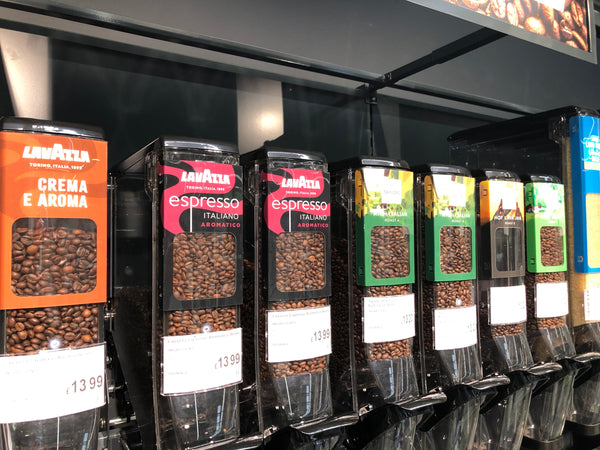 HL Display bulk bins used for cereals at Asda Sustainability Store