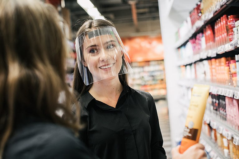 HL POS Centre Face Visors for retail sector