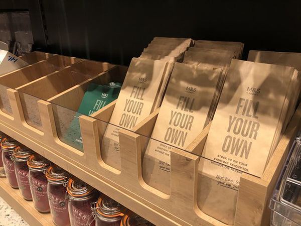 M&S Sustainability Store, HL Display bulk bins.