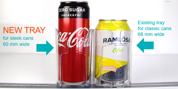 Retail solution for beverages using Optimal trays