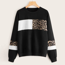 Load image into Gallery viewer, Patchwork  Leopard Sweatshirt