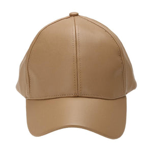 Vegan Leather Baseball Cap Snapback