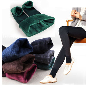 Warm Plush Casual High Waisted Cashmere Leggings