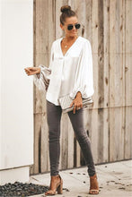 Load image into Gallery viewer, Lantern Sleeve Chiffon Blouse