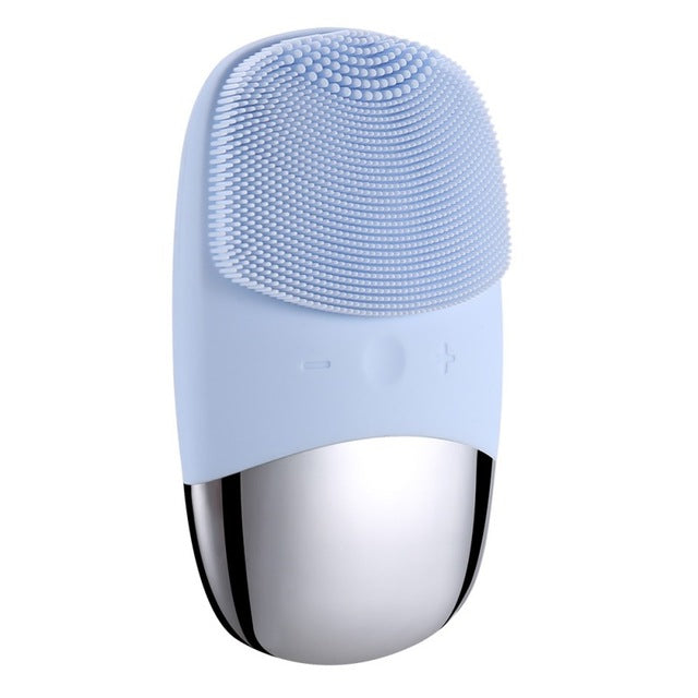 The Deep Pore Mini Electric Silicone Facial Massager &  Cleansing Brush