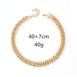 Chunky Cuban Link Choker Necklace