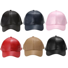 Load image into Gallery viewer, Vegan Leather Baseball Cap Snapback