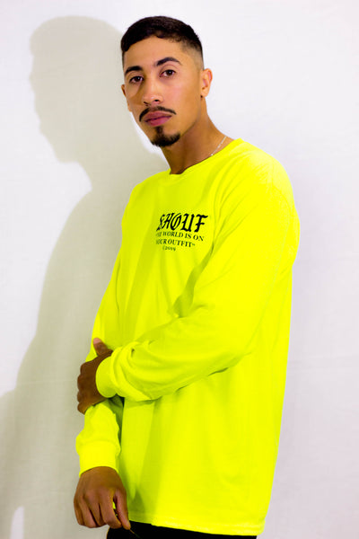 Camiseta larga SHOUF® AMARILLO FLUOR - SHOUF