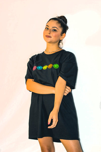 Camiseta corta COLORS NEGRA - SHOUF