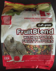 Zupreem Fruit Blend  ML Avian diet Parrot bird Food Grey Caique Fruitblend 3.5lb