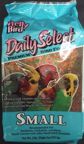 PRETTY BIRD PELLETS daily select small conure cockatiel parakeets lovebird 2lb