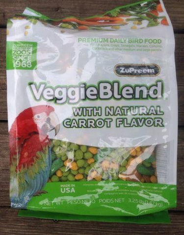 ZuPreem Veggie Blend Avian diet parrot food cockatoo vitamin minerals 3.25lb