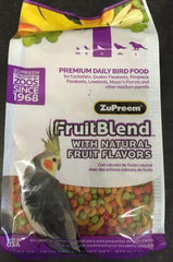 Zupreem FruitBlend Avian pellet diet 14oz bird Food, cockatiel, keet, ringneck