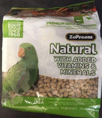 ZUPREEM AVIAN NATURAL PELLET DIET VITAMINS MINERALS CAIQUE CONURE GREY AMAZON
