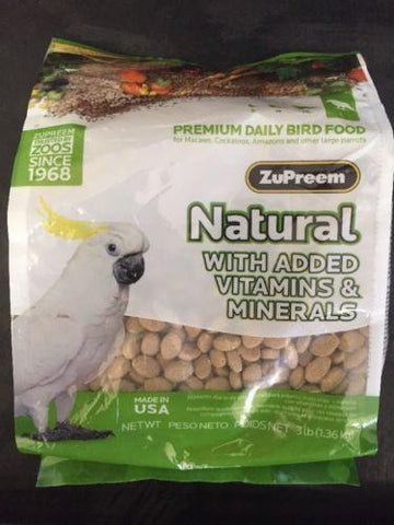 ZUPREEM AVIAN NATURAL PELLET DIET VITAMINS MINERALS MACAW COCKATOO AMAZON