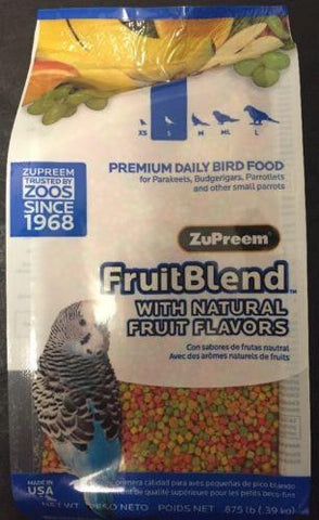 Zupreem FruitBlend parakeet bird Food Avian fruit blend pellet diet keet 28oz