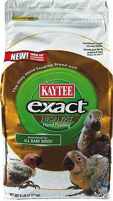 Kaytee exact Parrot Hand Feeding Formula 5lb all birds high fat african, macaw