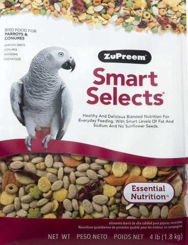 Zupreem smart selects parrot Bird food diet seeds mix parrot CONURE grey cockatoo 4lb