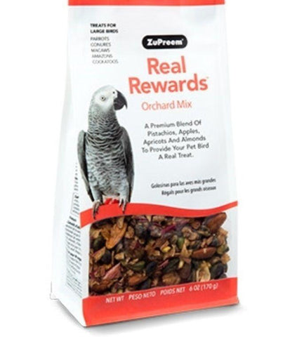 Zupreem REAL REWARDS ORCHARD MIX LARGE BIRD Natural Parrot TREATS food 6oz