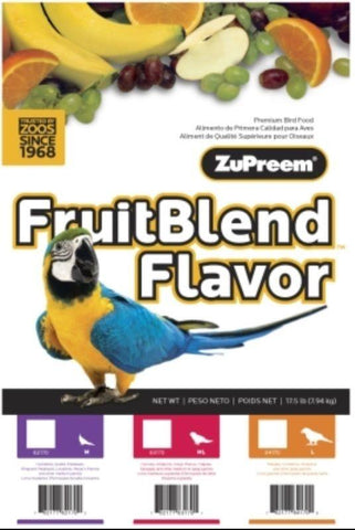 ZuPreem FruitBlend / Fruitblend Medium cockatiel conure bird food 35lb