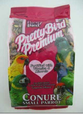 PRETTY BIRD PREMIUM BLEND FOOD SEED DIET – CONURE/SMALL PARROT 50LB
