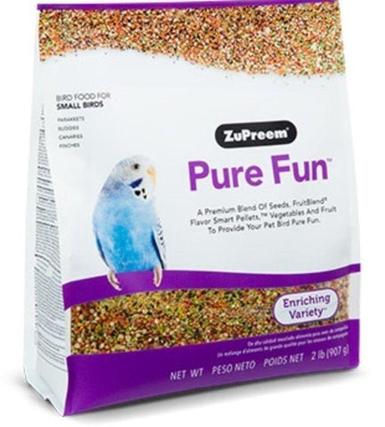 Zupreem PURE FUN BIRD FOOD Avian Diet Small BIRDS keet 2lb